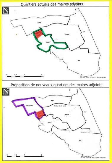 Modification du périmètre des quartiers à Noisy-le-Grand