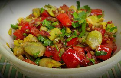 Salade de fèves au poivron