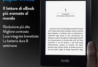 Kindle Paperwhite 3G: il lettore più avanzato al mondo. Lo trovi da noi a € 189
