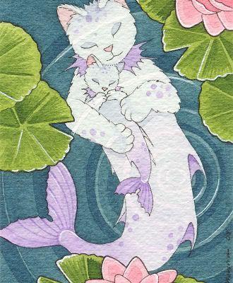 Douceur chats sirène