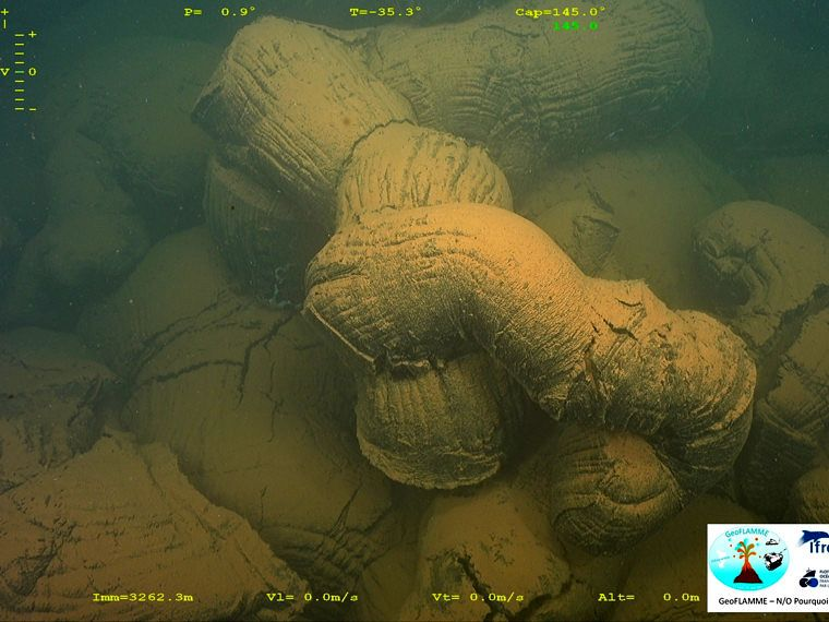 Mayotte submarine volcano - entanglement of lava tubes - GeoFLAMME campaign 17.04.-25.05.2021