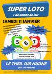 Loto de l'association des parents d'élèves de l'école André Barbet au Theil-sur-Huisne le 11 janvier