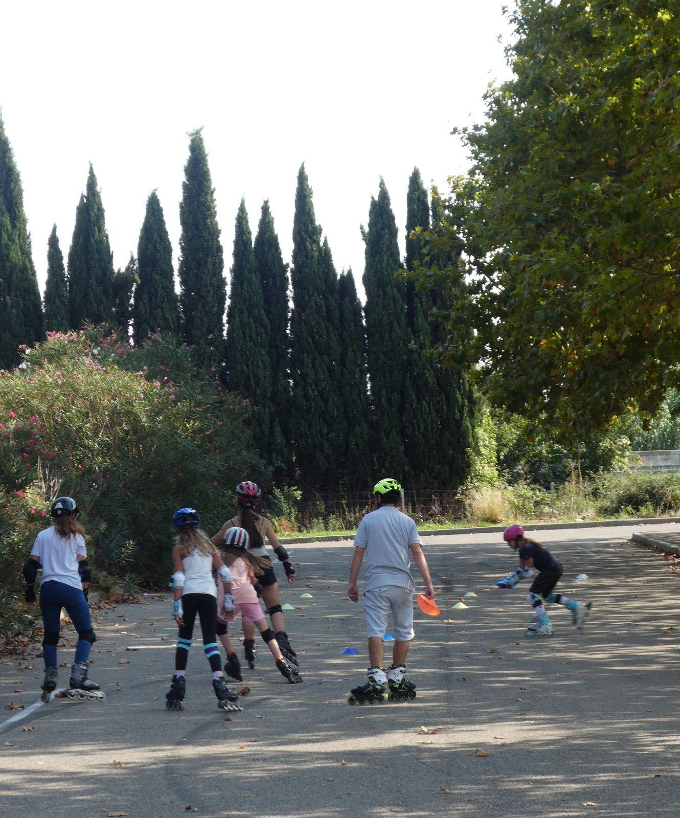 Roller Lib, club, sport, plein air, nimes, exterieur, cours, patin, roulette, quad