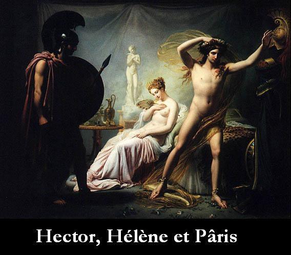Hector, Hélène et Pâris.