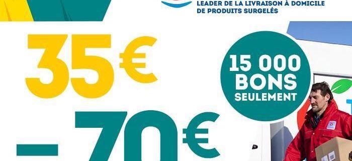 35€ =70€ sur les produits surgelés de Toupargel