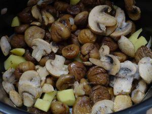 Velouté de marrons aux champignons, au Cookéo ou pas