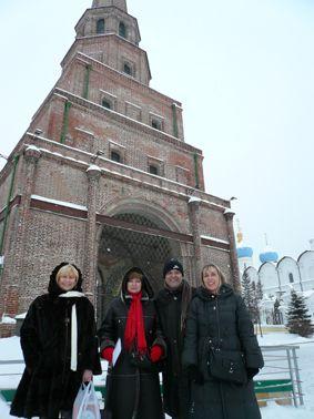 A Kazan, Sophie est venue avec moi pour assurer la transition ! Le froid mordant était devenu le compagnon des visites touristiques d'une ville hors du commun !