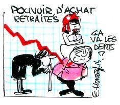 La baisse du pouvoir d'achat des retraités est une certitude