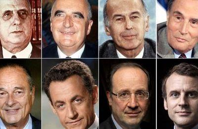 Les photos présidentielles de la V° République