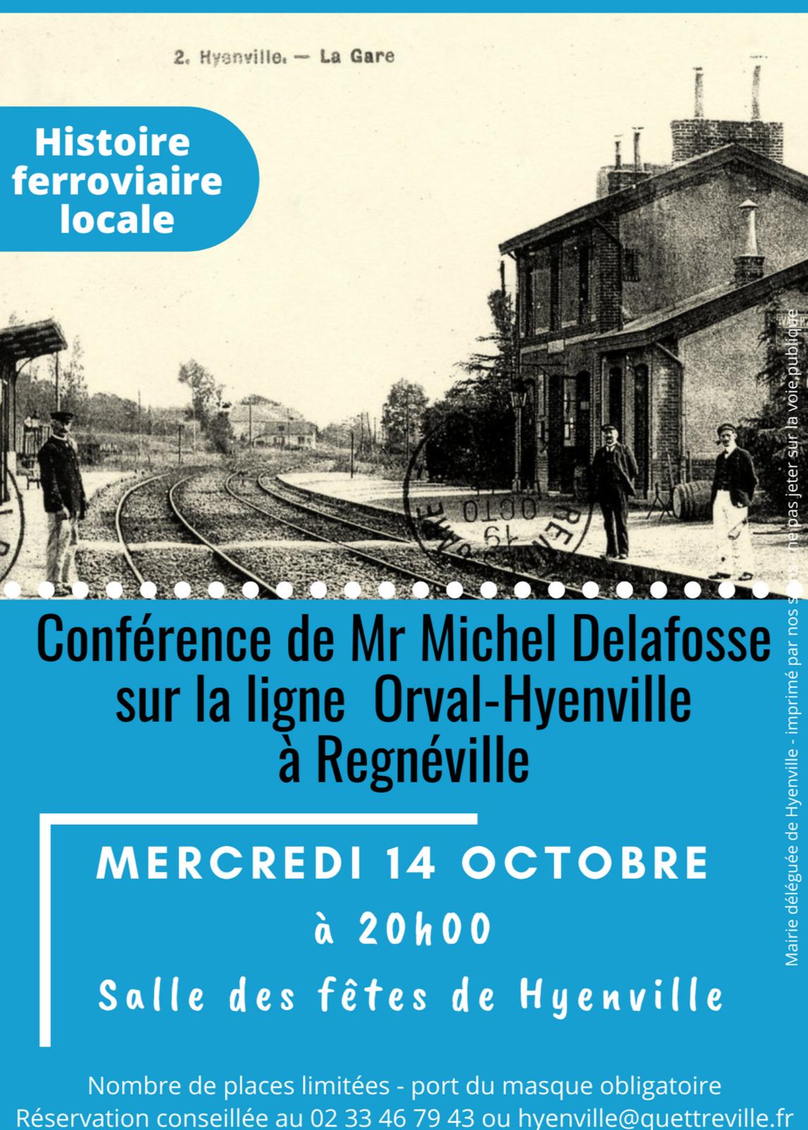 Conférence sur l'ancienne ligne Orval-Hyenville, mercredi 14 octobre à Hyenville