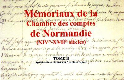 Mémoriaux de la Chambre des comptes de Normandie tome 2
