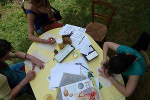 Atelier Batik au petit festival du Prince Temps