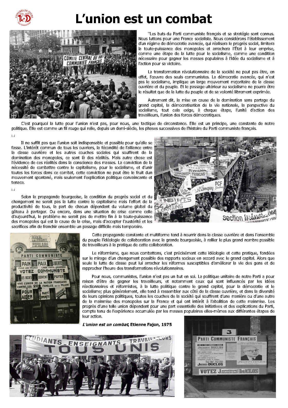 1920 - 2020. Congrès de Tours. 100 ans de lutte anticapitaliste - 15