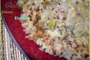 Quinoa aux Endives Citronnées (recette light)