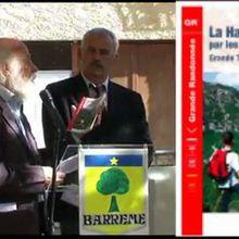 Barrême , inauguration voie impériale , le reportage