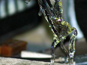 Visite d'une fonderie de verre à Murano, Venise.