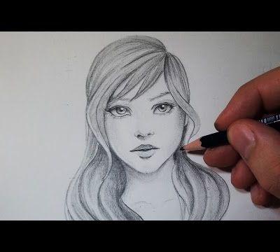 Comment dessiner un visage : Avec un crayon gris