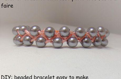 Tutoriel: bracelet en tresse perlé facile à faire
