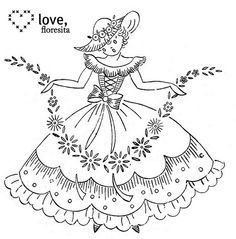 crinoline lady #2 by floresita's transfers, via Flickr