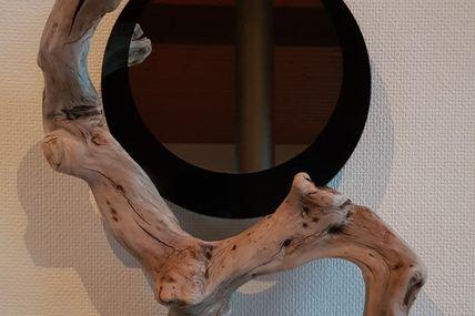 Miroir en bois flotté Oboisdormant