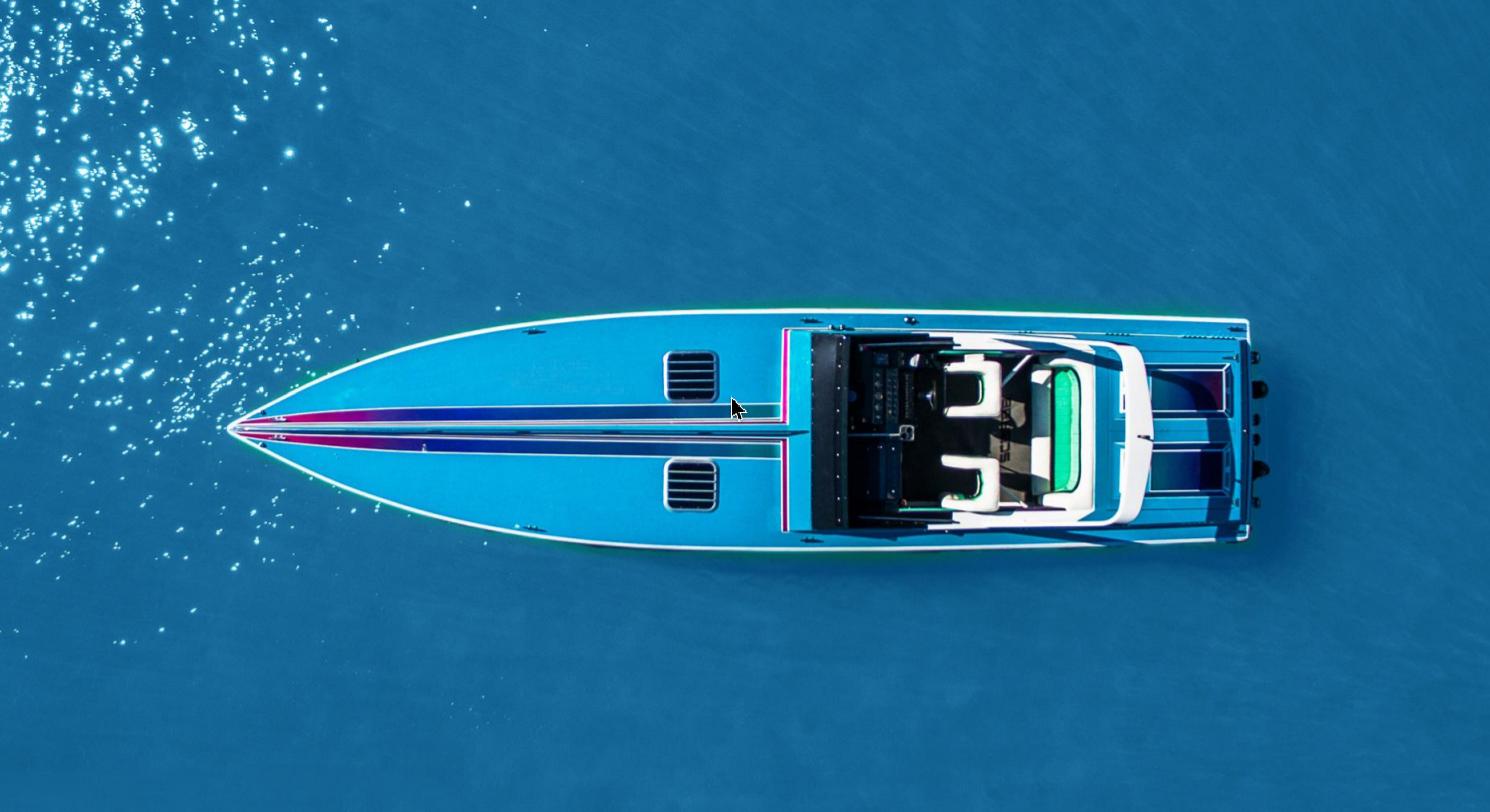 Scarab 38 KV, le bateau de Sonny Crocket (Miami Vice)
