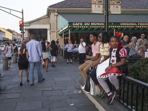 La route du blues - New Orleans .