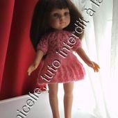 tuto gratuit poupée : robe duveteuse, confortable et à petits trous - Chez Laramicelle