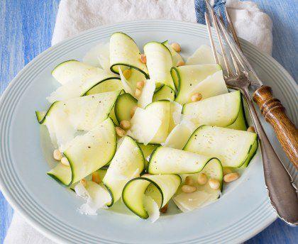 Idée recette : La salade de courgette au parmesan