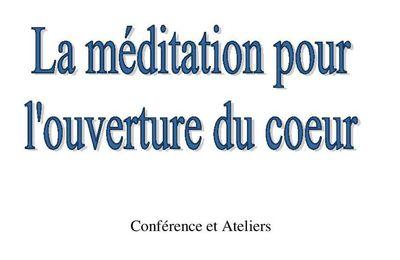 Méditation pour l'ouverture du cœur avec Jacques VIGNE à Saintes (17) 11 et 12 janvier 2020
