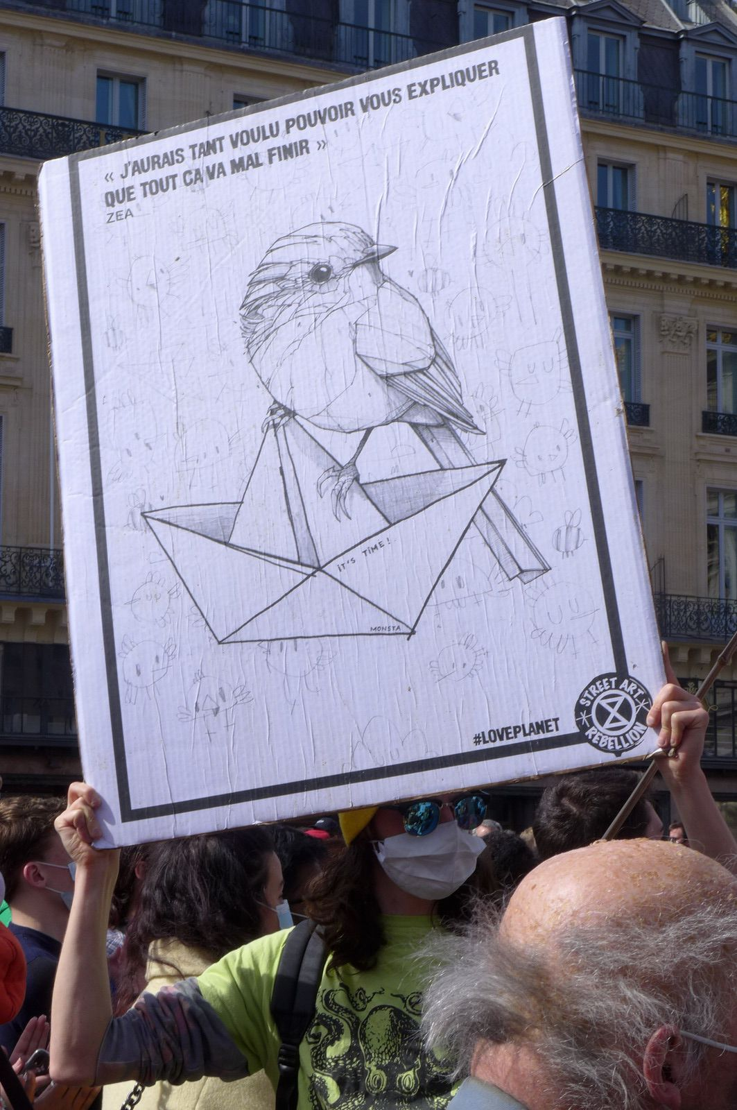 Street art rebellion, manifestation du 28 mars 2021 (Photo Pierre Stoeber)