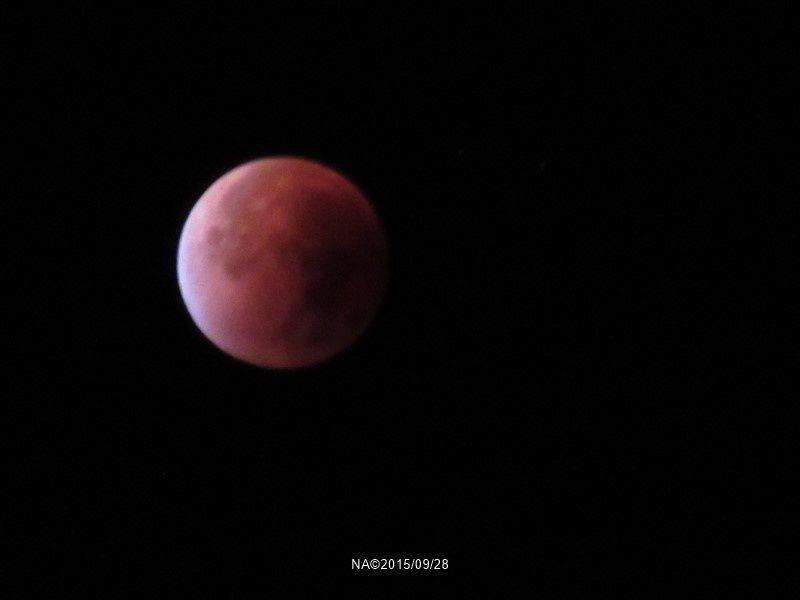 Curiosité : l'éclipse de  lune du 28 septembre 2015