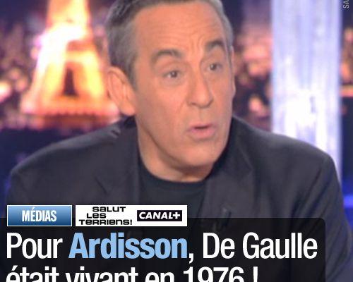 Pour Ardisson, De Gaulle était vivant en 1976 !