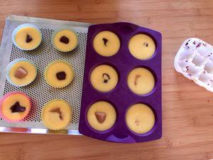 Muffins au yaourt, coeur surprise