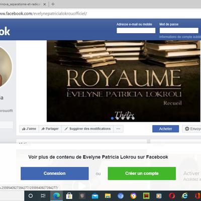 Aimez la page Facebook des livres d'Evelyne Patricia