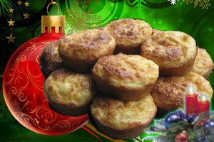 Amuse bouche de Noël 2 - Mini cake au crabe.