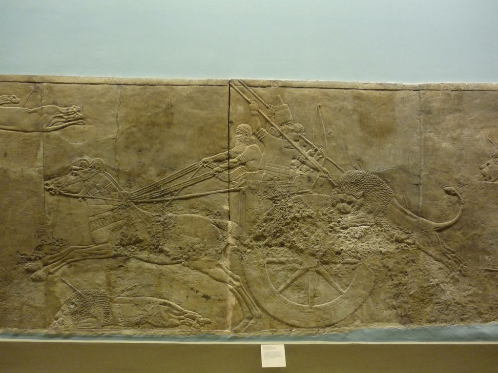 The royal lion hunt, Assyrian, about 645-635 BC, from Nineveh, North Palace
