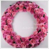 couronne de roses en papier (tutoriel gratuit - DIY)