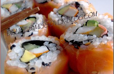 CALIFORNIA ROLL au SAUMON FUMé