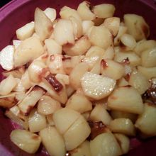 Pommes de terre au cube or