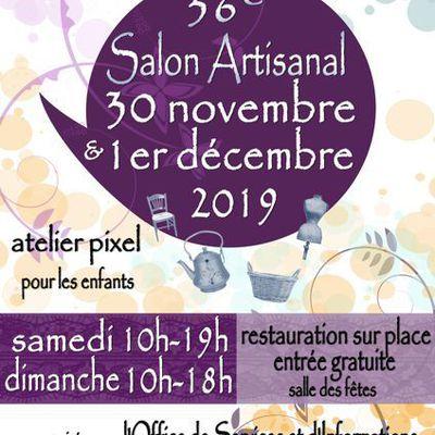 Salon artisanal les 30 novembre et 1er décembre 2019, Verneuil en Halatte