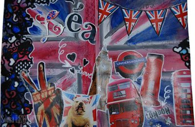 Mon art journal - Léa love london!