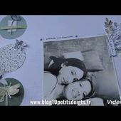 """Tuto Page scrapbooking #1 """"GREEN"""" 🌿"""
