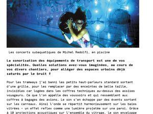 [ URL de l'article ] http://obs-urbain.fr/michel-redolfi-createur-de-melodies-urbaines/