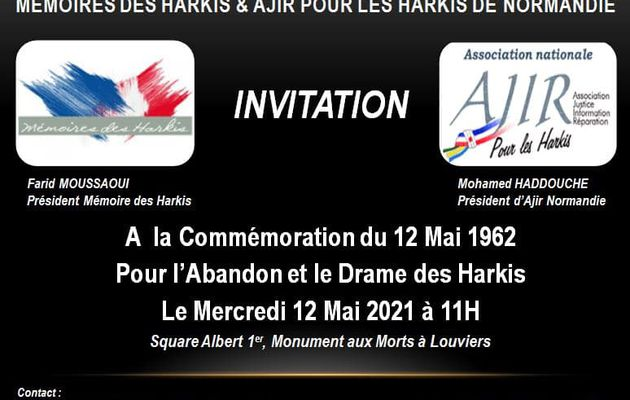 Commémoration nationale de l'abandon des Harkis à Louviers (27)