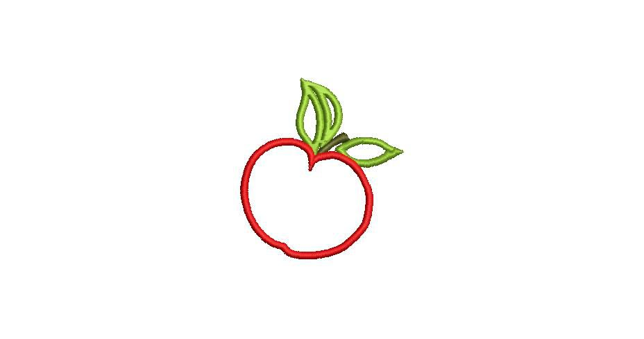 BRODERIE POMME ROUGE