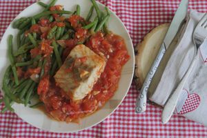 Filet de lieu noir en sauce tomate épicée -light
