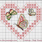 Cœur Valentin, Papillons de printemps : Face B - Chez Mamigoz