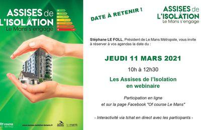Les Assises de l'isolation se dérouleront le 11 mars en Webinaire