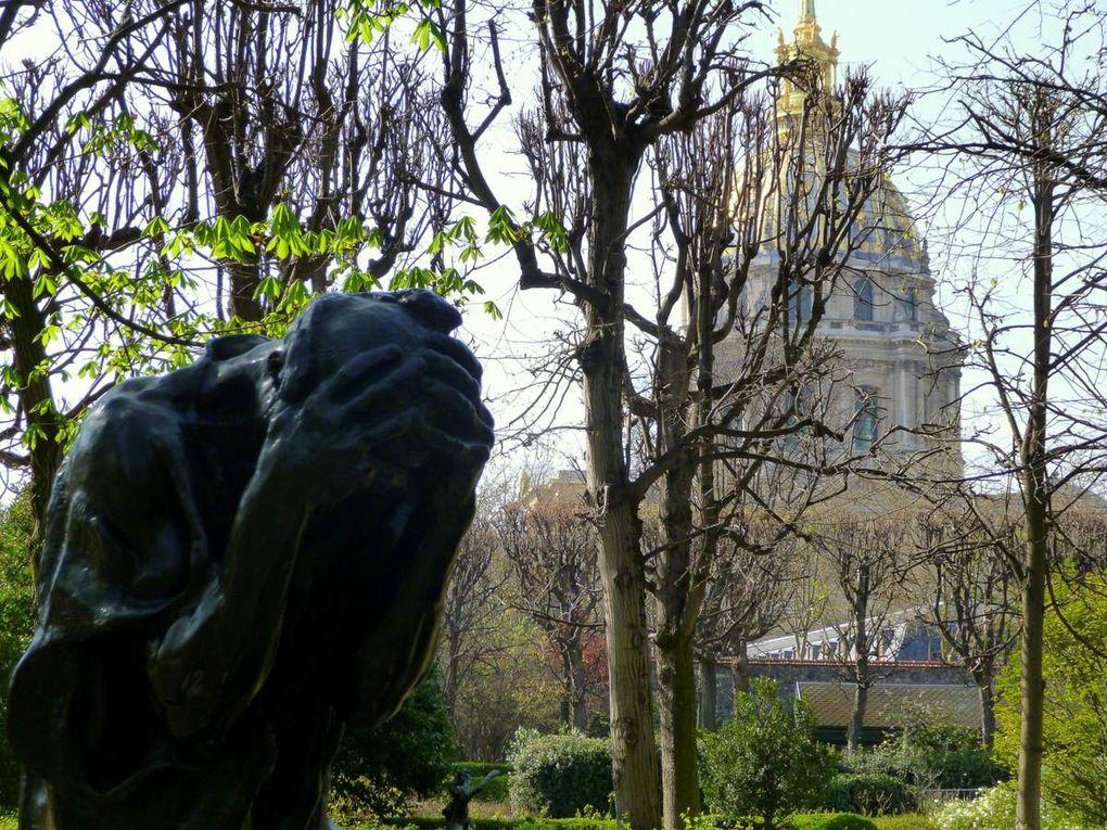 Balade artistique au milieu des statues de bronze de Rodin (mars 2014, images personnelles)