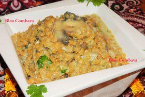 Lentilles Corail Coco Curry, à l'indienne